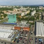 Zdjęcia z drona dla Alma Tower oraz OBI, Kraków.