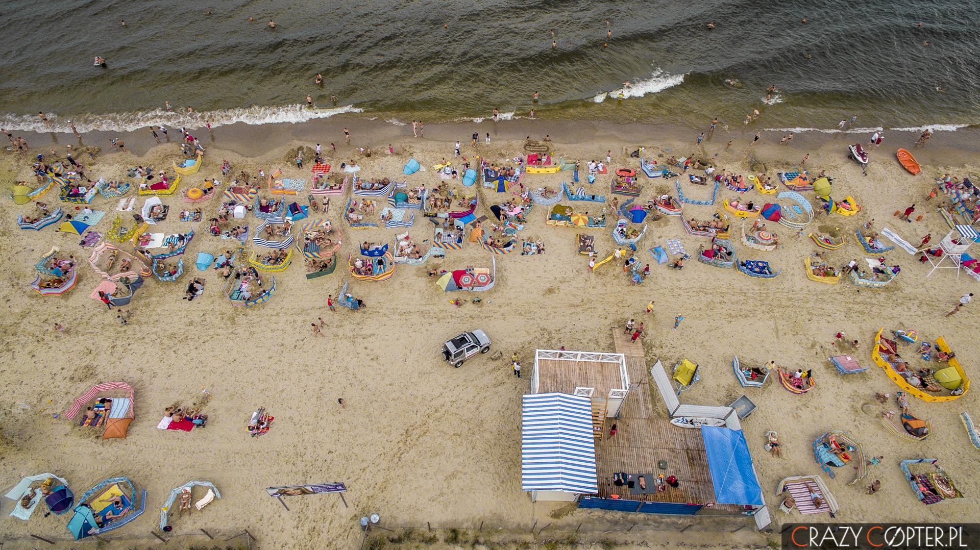 Monitoring Ruchu Turystycznego na plaży w Stegnie