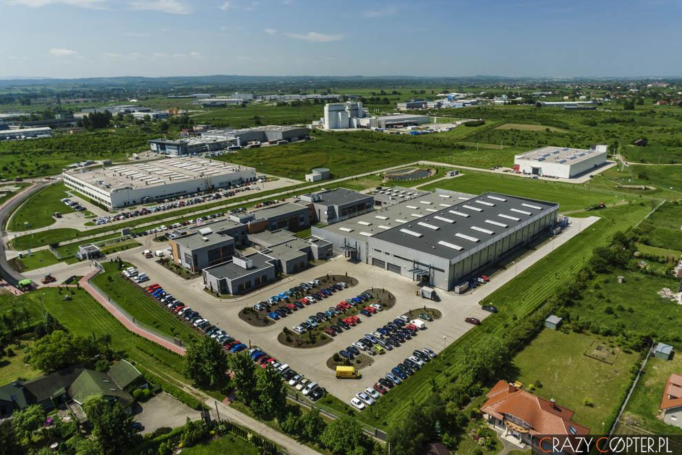 Fabryka Woodward wNiepołomicach - zdjęcia lotnicze