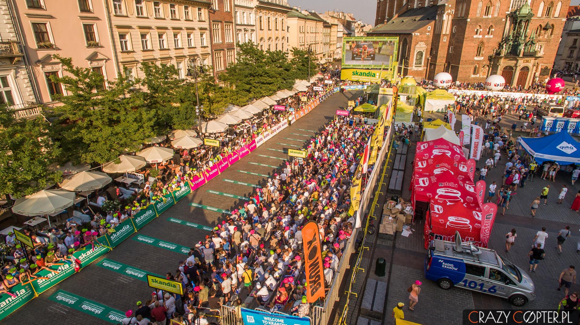 Relacjonujemy finał Tour de Pologne wKrakowie naRynku.