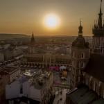 Fotografia lotnicza - Krakowski Rynek z lotu ptaka
