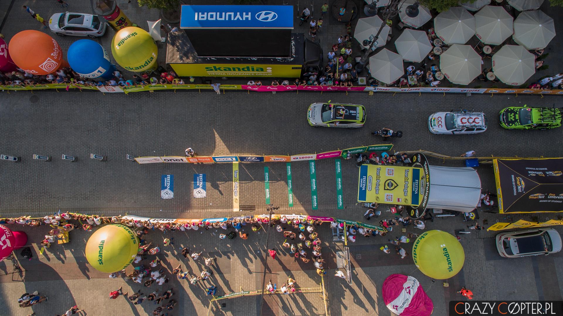 Start ostatniego etapu Tour de Pologne, Kraków