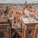 Panorama Wrocławia znad Mostku Czarownic - zdjęcia lotnicze