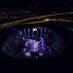 Koncert Andrea Bocellego na Stadionie we Wrocławiu relacjonowany na żywo z drona do Youtube.