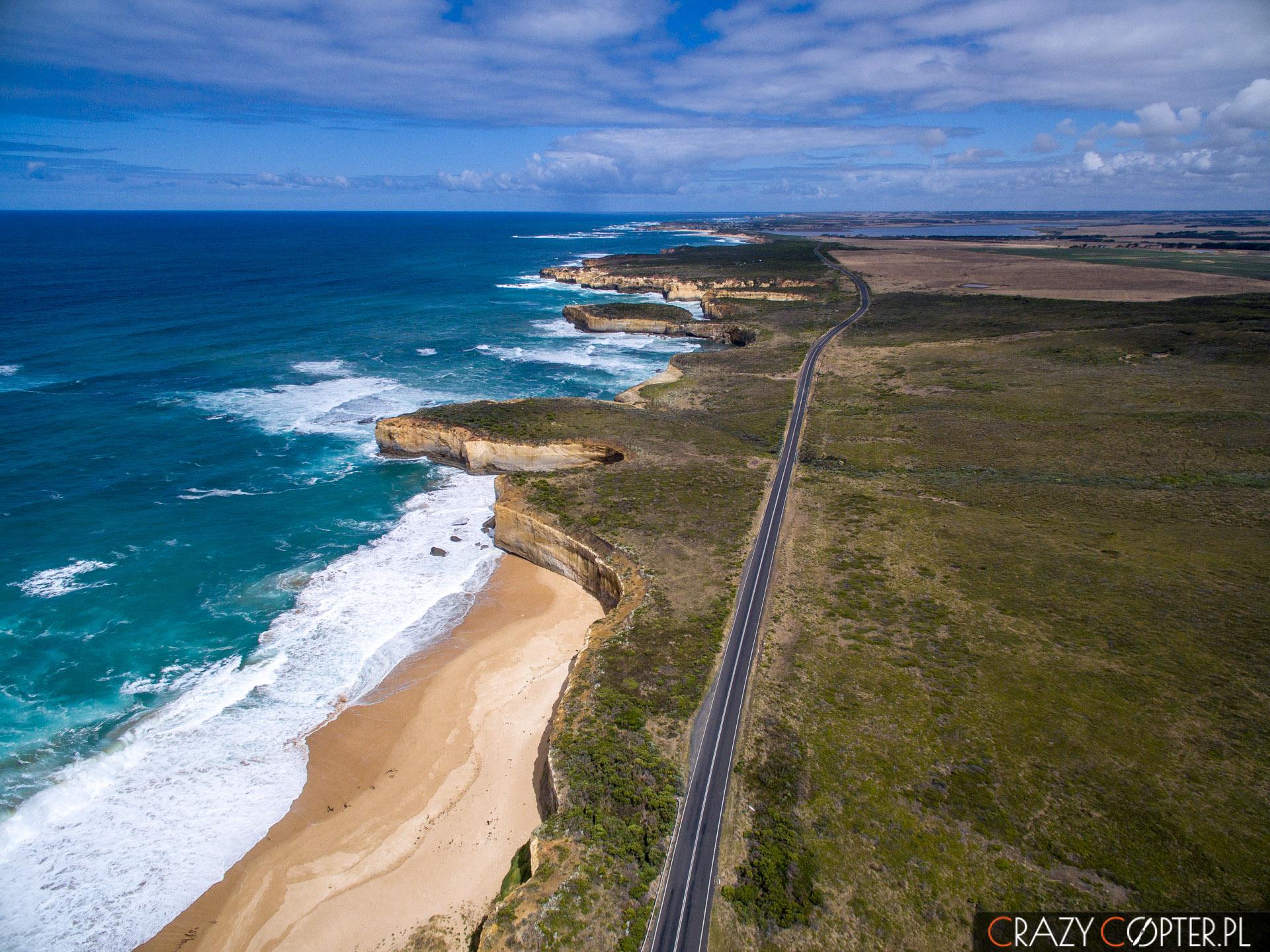Zdjęcia z drona Great Ocean Road, Australia