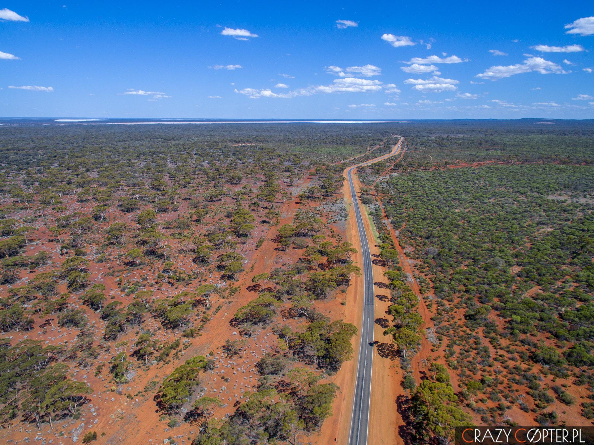 Zdjęcie z drona, Nullarbor, Australia,