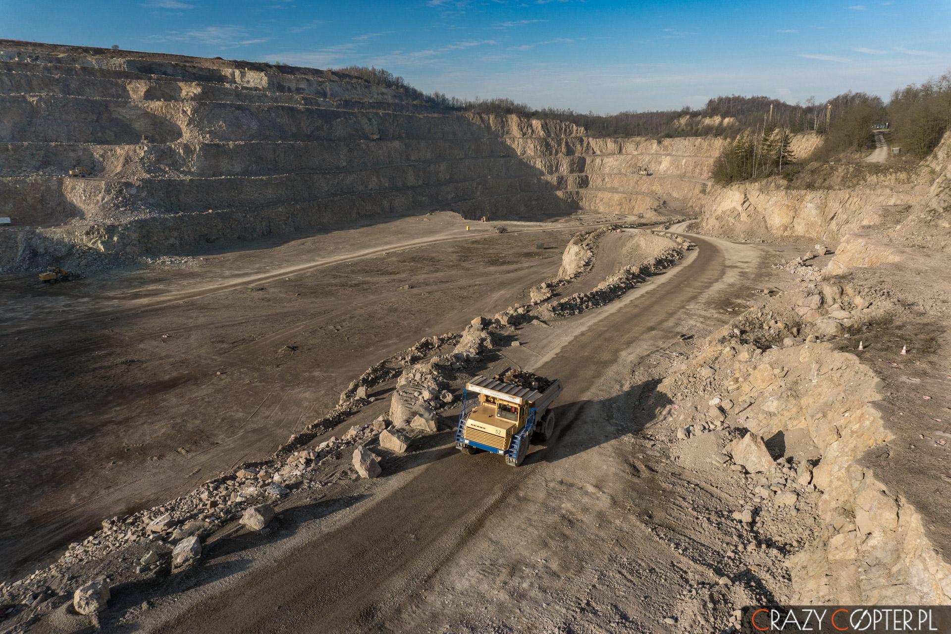 Przemysłowe zdjęcie z drona kopalni