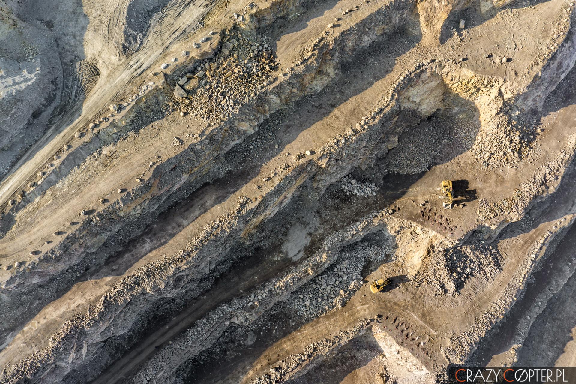 Zdjęcia lotnicze kopalni odkrywkowej