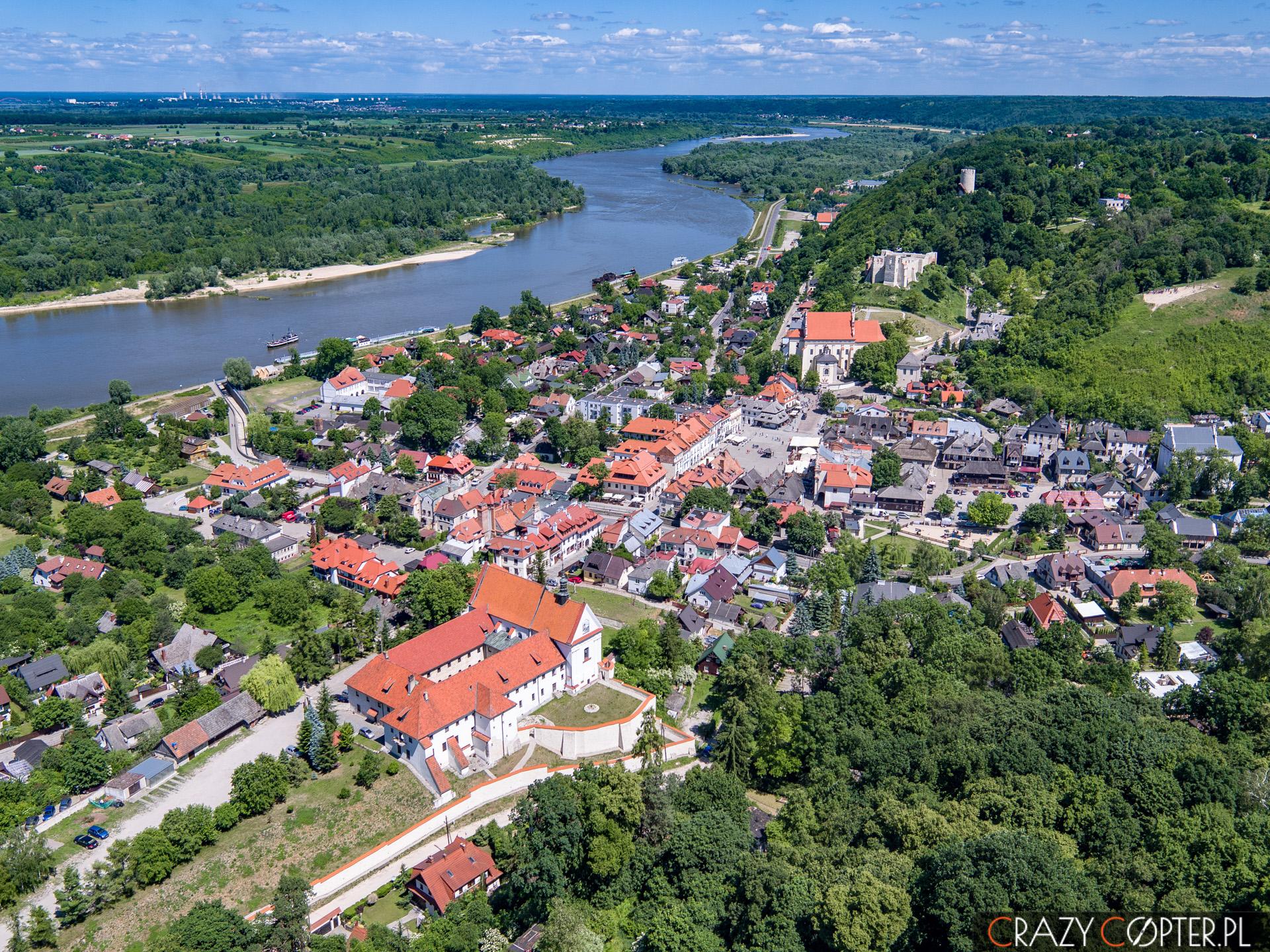 Zdjęcia z drona: Kazimierz Dolny nad Wisłą.