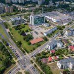Dawny budynek Telekomunikacji Polskiej w Lublinie oraz jego położenie w mieście.