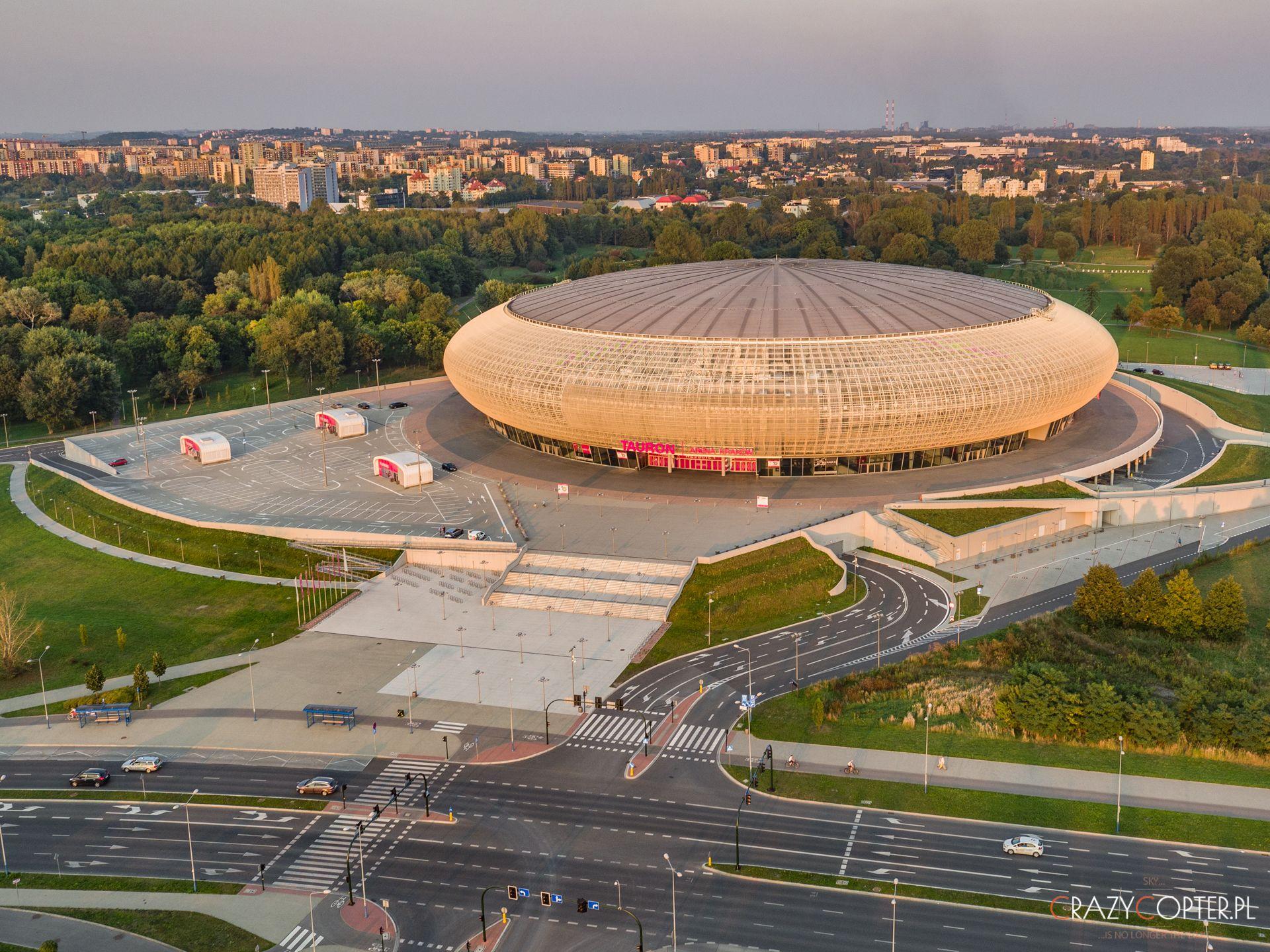 Tauron Arena w Krakowie - zdjęcie z drona