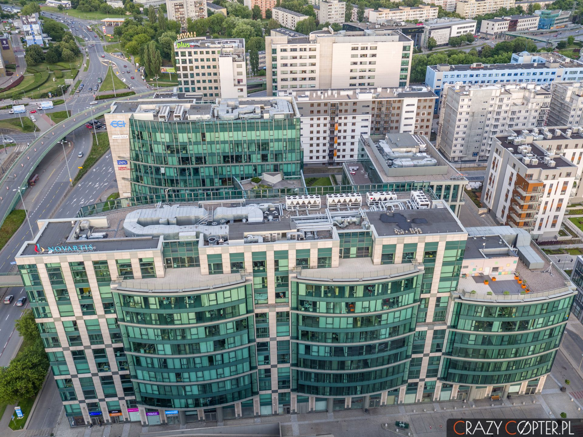 Budynek New City naMokotowie wWarszawie - zdjęcie zdrona.